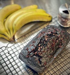 Charcoal Vegan Banana Bread Loaf